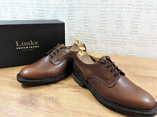 New Loake Men's Epsom UK 8 F US 9  EU 42 F Brown Waxy Leather Country city
