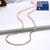 Classic 18K Rose Gold Filled 1.5mm Link Anchor Chain Necklace