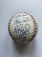 Mike Trout Albert Pujols Chris Sales 2015 All Stars Signed Baseball PSA DNA