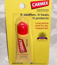 Carmex Lip Balm New Sealed Tube Soothe Heal Protect Lips Full Size