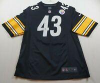 NFL Troy Polamalu 43 Pittsburgh Steelers Nike On Field Jersey Size L