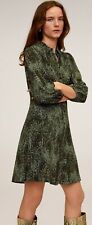 Woman snake printed  shirt-dress  size XS UK 6 new,mango.,,/,,