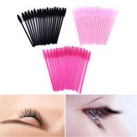 50Pcs Silicone Head Disposable Mascara Wands Eyelash Brushes Lash Extention Hot