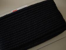 1m VENO hochwertige, geflochtene Baumwollkordel, Kordel, 8 mm schwarz