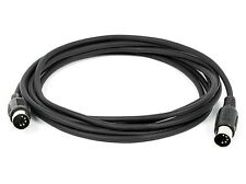 4x 10 FT MIDI Cable Male to Male 5 Pin DIN Plugs RoHS 4 Pack Lot Black 10 Feet