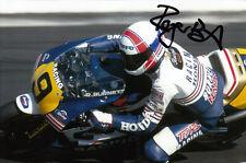 Roger Burnett Hand Signed Rothmans Honda 6x4 Photo 1.