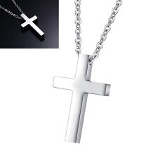 Small Children Boy Girl Simple Stainless Cross Pendant Necklace Christmas Gift
