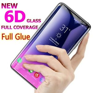 Glue Adhesive 6D Tempered Glass For Samsung Galaxy S9 / S9 Plus / Note 9/8