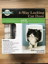 PetSafe 4-Way Locking Cat Door w/Tunnel White Interior - Exterior PPA00-11325