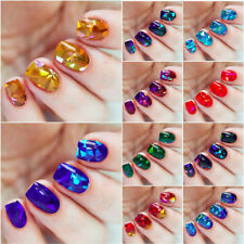 13x BROKEN GLASS Foils Set Holographic Nail Art Foil Decoration Wrap Transfer...