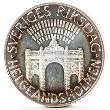 100 Kronen Silber Münze Schweden Parlament silver coin Sweden Parliament 1983