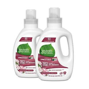 Seventh Generation Laundry Detergent, Geranium Blossoms Vanilla, 40oz. (2 Pack)