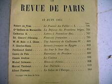 LA REVUE DE PARIS n° 12 - 1934 revue littéraire GISCARD CATHERINE II GOETEL etc