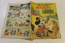 LES BELLES HISTOIRES DE DISNEY  MICKEY GARDE FORESTIER de 1952  première série