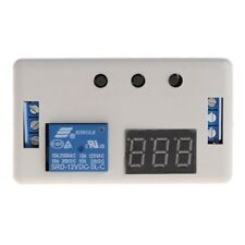 DC 12V Control Programmable Timer Digital Time Delay Relay Module Board w Case