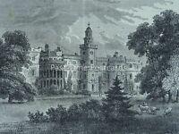 London Tottenham BRUCE CASTLE Original Victorian Print 1878
