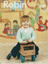 Robin Baby Items Knitting Patterns Supplies