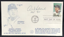 Al Kaline Authentic Autograph Signed First Day Issue Cooperstown HOF 80 Auto