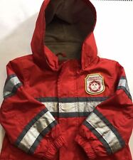 CARTER'S Volunteer Fire Fighter 18 mos. Red Jacket Good Used Condition Ltwt(23B)