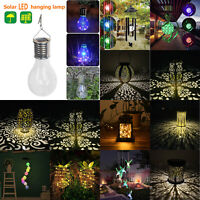 Solar Power LED Hanging Light Outdoor Garden Wall Patio Chime Lantern Lamp Decor