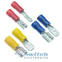 Male + Female Insulated Spade Crimp Connector Electrical Terminal Terminals