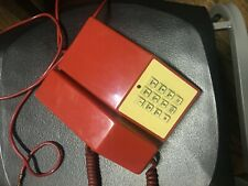 Vintage 80's Red Touch Phone  telephone Untested, For Display or restoration