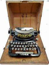 antigua maquina de escribir de coleccion  ROFA nº 4 rare typewriter 1923