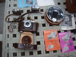 REGULA KING 35 MM Pronto Lens CAMERA Germany & METRAPHOT EXPOSURE METER & FLASH