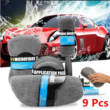9 Sets Auto Car Cleaning Kit Soft Superfine Fiber Multi-function Interior Wash