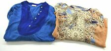 Lot of 2 Meadow Rue Women's Small/Medium Long Sleeve Casual Blouse Top Shirts