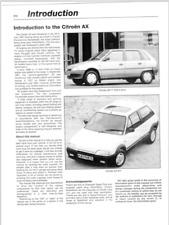 Manual de Taller Citroen AX en Inglés, English (En CD) Workshop Réparation.