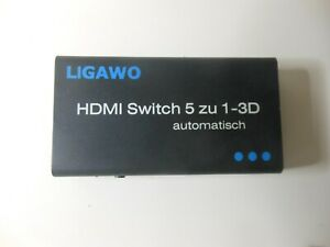 HDMI Switch 5x1 3D automatisch mit Netzteil one Fernbedienung