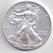 2012  Uncirculated American Silver Eagle  1-Troy oz. .999 Silver. Eagle is White