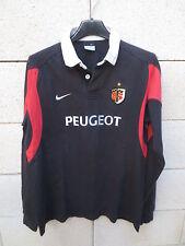 VINTAGE Maillot rugby STADE TOULOUSAIN Nike enfant shirt coton 13 15 ans signé