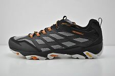 Mens Merrell Moab FST Trail Running Shoes Size 11 Black White Orange J35779