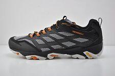 Mens Merrell Moab FST Trail Running Shoes Size 12 Black White Orange J35779