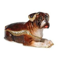 Department 56 Bejeweled Collection | BOXER DOG JEWELED BOX *NEW* D56 31970 RARE
