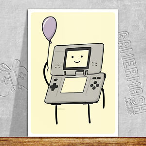 PERSONALISED GREETING CARD - Game Boy Themed - gameboy nintendo ds advanced game