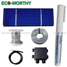 20pcs 78x26mm Solar Cells W/ Tabbed Bus Wire Flux Pen for DIY Lab Solar Toy