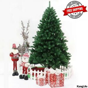 6FT Christmas Tree Artificial Holiday Faux-Pine Xmas PVC Trees Home W/ Stand NEW