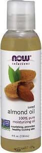 aceite de almendras dulces 100% Puro Sweet Almond Oil piel cabello cara 4oz New