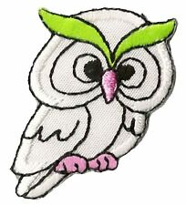 Patch écusson patche Hibou petit thermo-adhésif thermocollant brodé