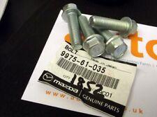 4x Bolts, front brake caliper bracket hub mounting 35mm, genuine Mazda MX-5, MX5