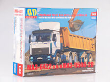 Model for assembly 1/43 MAZ-6422 with semitrailer MAZ-9506-20