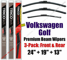 Wipers 3-Pack Premium Front Special Rear fit 2007 Volkswagen Golf 19240/190/13G