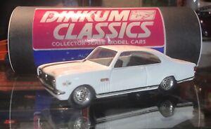 Dinkum Classics 1969 Holden HK Monaro 2Dr Coupe White Black Stripes 1:43 Scale