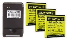 3X QUANTUM 1800mAh  Batteries + Charger for Samsung Galaxy S2 D710 1yr Warranty