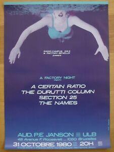 DURUTTI COLUMN A CERTAIN RATIO original concert poster '80 factory night