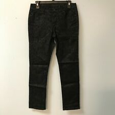 Liverpool Jeans Company Womens 8 Black Scaley Pants