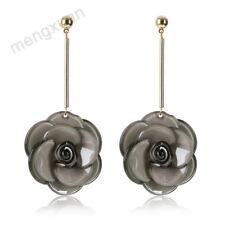 Hot Fashion Acrylic Flower Earrings Elegant Long Earrings For Women Jewelry